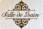 Salle De Bain (French for Bathroom) Top/Bottom Embellished