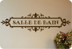 Salle De Bain (French for Bathroom) Ornately Framed Style