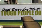 Tough Times Don't Last Tough People Do (Two Lines)