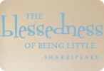 The Blessedness of Being Little