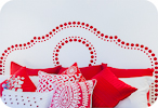 Decorative Dot Headboard