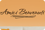 Amici Benvenuti (Brush Drawn)