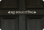 No Soliciting (Elegant)