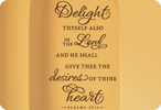 Delight in the Lord - Psalms 37:4